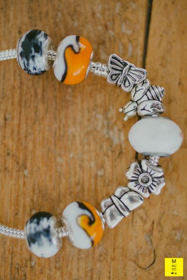 bracciale charms farfalla